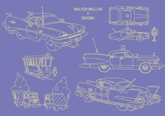 Car props design by Gilbert Martinat