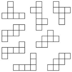Look at the patterns below. Which ones will not fold perfectly into a cube? Cube, Puzzles, Patterns, Block Prints, Puzzle, Pattern, Templates