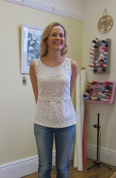 Completed - Nautical Anchor Kanerva Button Back Blouse | Guthrie & Ghani
