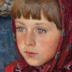 "Bogdanov-Belsky, Nikolai   detail from ""Admissions Day"""