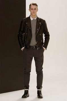 Full circle. Oh hey look, it's my style from when I was 21 and living in Germany. Just now a better groomed and more expensive version.     Pierre Balmain Fall/Winter 2013.