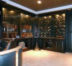 Cool Basement Gun Room For Males