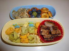 Bento Lunch: Tortellini and steak bento. #Bento www.facebook.com/BentoSchoolLunches