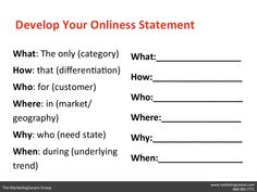 Onliness Statement (Onlyness)
