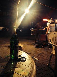 Kellerbier am Straßengrill