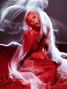 Issa Lish 'In The Dreamy Red Mood' by Sølve Sundsbø for Vogue Italia | Style by Patti Wilson | Hair by Shon | Makeup by Val Garland | Manicure by Adam Slee