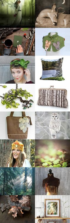 Woodland Escape by Mary Clift on Etsy--Pinned+with+TreasuryPin.com