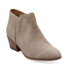 Spye Hale in Mushroom Suede - Womens Boots from Clarks