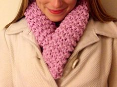 Y'all check out Mary's etsy shop for beautiful hand-knit scarves!  Limited Edition Sweetheart Chunky Cowl on Etsy, $35.00