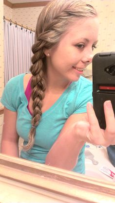 Love doing my hair like this! quick and easy!