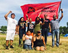 The Red Nation delegation at the #NoDAPL camp. (Courtesy The Red Nation)