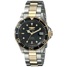 """Invicta Men's 8934 """"Pro-Diver Collection"""" Two-Tone Stainless Steel Watch- affiliate link Stylish Watches, Luxury Watches, Cool Watches, Watches For Men, Men's Watches, Dress Watches, Silver Watches, Fashion Watches, Jewelry Watches"""
