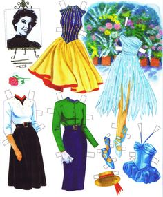 Leslie Caron Paper Dolls by Marilyn Henry (5 of 10)