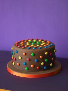 Smartie and chocolate cake  Cake Decorating Magazine #cakedecorating