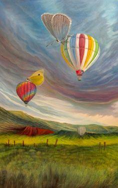 BUTTERFLIES   93 x 59 cm   Acrylic and Oil Painting on Hardboard   by Krzysztof Polaczenko ® 2014