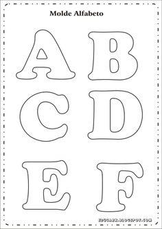 Risultati immagini per as letras do alfabeto para imprimir Alphabet A, Alphabet Letter Templates, Printable Letters, Letter Stencils, Felt Crafts, Diy And Crafts, Felt Name, Felt Letters, Applique Patterns