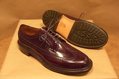 Alden Color 8 Shell Cordovan Long Wing with Commando Sole (Alden Shoes of Carmel)