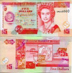 Pick 58 Serie Ba 5 Dollars 1996 Unc Belize