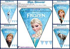 Frozen: Pretty Free Printable Bunting.