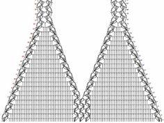Crochet tank top beach halter top pattern diagram bra