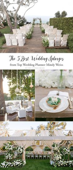 The Top 5 Wedding Splurges    Wow Factors for Your Wedding    5 Unforgettable Wedding Details