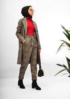 Pinterest: @adarkurdish Modest Clothing, Modest Outfits, Modest Fashion, Hijab Fashion, Cute Outfits, Outfit Look, Smart Outfit, Hijab Outfit, Fashion Ideas