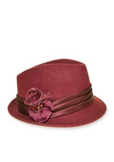 Nine West  Felt Porkpie Fedora Hat