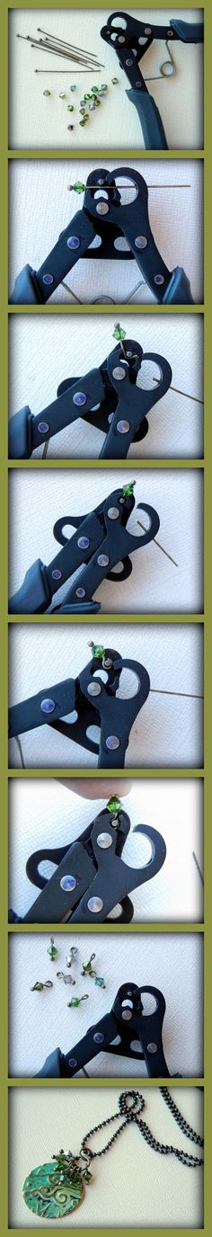 1-step Looper tool -  [Got one and have made 6-7 linked necklaces.  It does NOT make perfectly round loops, but is easy on the hands.  Is best with 20g wire.  Loops are too tight with 18g wire.  Pretty impossible with 16g.  Nice tool...I'd like to see one for bigger wire.  Recommend it?  it does what it does well....the question is do you like the look of the loops?/LL]  #Wire #Jewelry #Tutorials