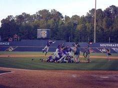 2013 SEC Tournament championship dog pile ... I mean Tiger pile!