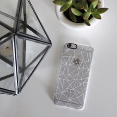 Abstraction Outline White Transparent - New Standard Case