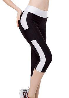 0d2972c762668 New 2017 Fashion Women's Fitness Leggings Female One Side Small Pocket Pants  Elastic Three Quarter Leggings