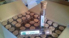Semillas de flores enanas en tubos de vidrio, #regalos #personalizados http://www.elangreen.com/index.php