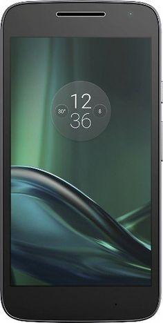 Verizon Wireless Prepaid - Moto G4 Play 4G LTE with 16GB Memory Cell Phone - Black