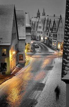 Snowy Night, Rothenburg, Germany Going back. I miss you Rothenburg! Places Around The World, Oh The Places You'll Go, Places To Travel, Travel Destinations, Places To Visit, Around The Worlds, Thailand Destinations, Best Winter Destinations, Christmas Destinations