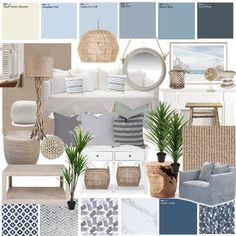 Dulux Paint Colours Interior, Coastal Paint Colors, Hamptons Style Decor, The Hamptons, Farm House Colors, New Home Designs, Colorful Interiors, Interior Design, Coastal Interior