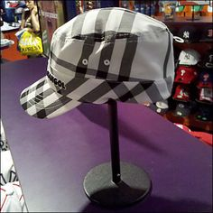 Kangol Dazzle-Paint Cap & Stand – Fixtures Close Up Point Of Purchase, Hat Stands, Display Design, Headgear, Caps Hats, A Table, Design Inspiration, Closets, Painting