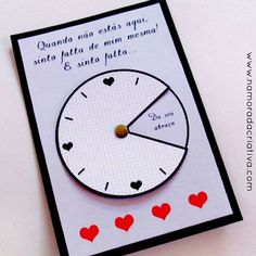 "DIY: Cartão ""Sinto sua falta o tempo inteiro"": Pop Up Cards, Love Cards, Diy Cards, Boyfriend Crafts, Gifts For My Boyfriend, Valentine's Day Diy, Scrapbook Albums, Valentine Gifts, Mini Albums"
