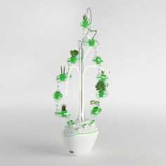 Hydroponic plant cultivator for growing organic food in future households Designed for the kitchens of 2025 households, planTree allows to grow organic food from seed to plants. Hydroponic Vegetables, Hydroponic Plants, Hydroponic Growing, Growing Plants, Veg Garden, Easy Garden, Garden Tips, Water Garden, Indoor Aquaponics