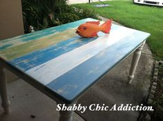 Coastal Painted Furniture | Coastal Painted Table