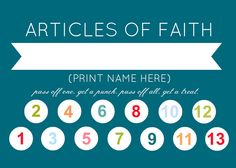 Article of Faith Punch Card