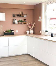 Ikea Kitchen, Home Decor Kitchen, Kitchen Interior, Home Kitchens, Kitchen Fan, Kitchen Shelves, Country Kitchen, Kitchen Ideas, Living Room Interior