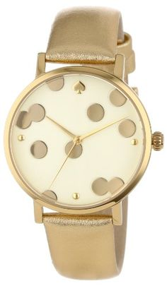 Kate Spade Watches Women's 1YRU0016 Gold Confetti Metro Watch: Watches: Amazon.com for $175.00. @Veronika J, this reminds me of your art for your nursery! :)