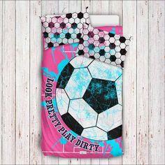 Girls Soccer Bedding