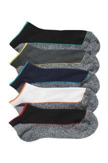 NEXT, Five Pack Panel Trainer Socks