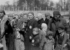 Auschwitz - Jewish Women and children on their way to the gas chamber