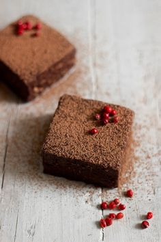 Raw Chocolate Pink Peppercorn Brownies
