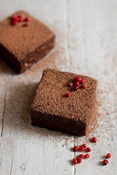 Raw Chocolate Pink Peppercorn Brownies
