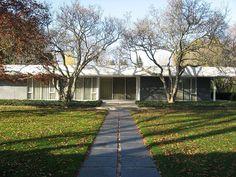 Eero Saarinen- 1957 - The J. Irwin and Xenia Miller House, 2760 Highland Way, Columbus IN.