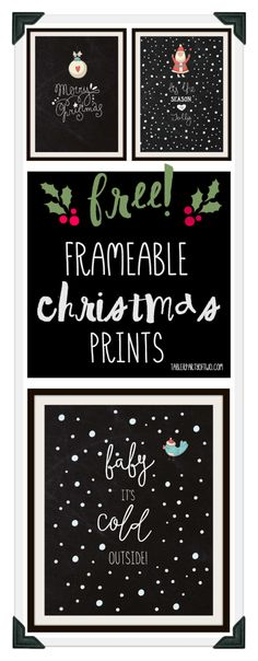 Super cute Christmas printables to make your season bright! | Tabler Party Of Two | www.TablerPartyofTwo.com