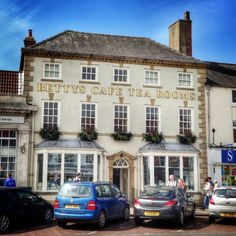 Betty's Tea Room. Northallerton. This iconic Yorkshire company was formed in 1919 and mixes Yorkshire and Swiss recipes. They have tea rooms in Harrogate, York, Ilkley and Northallerton.